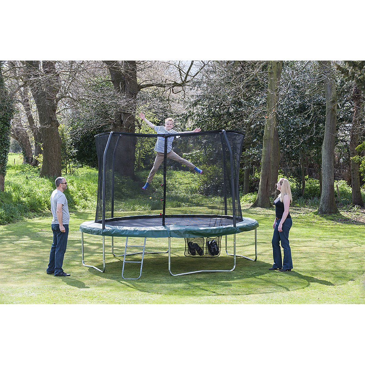 jumpking classic trampolin 366 cm mit netz und leiter. Black Bedroom Furniture Sets. Home Design Ideas