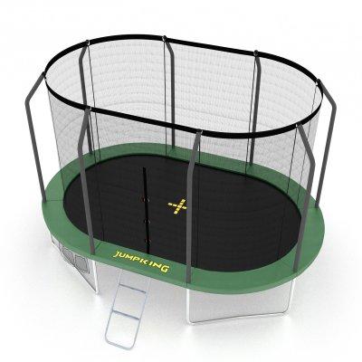 jumpking oval trampolin 350 cm mit netz. Black Bedroom Furniture Sets. Home Design Ideas