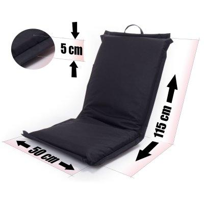 sitzkissen mit lehne festival schwarz verstellbar. Black Bedroom Furniture Sets. Home Design Ideas