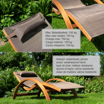 relax und gartenliege tropica braun mit auflage. Black Bedroom Furniture Sets. Home Design Ideas