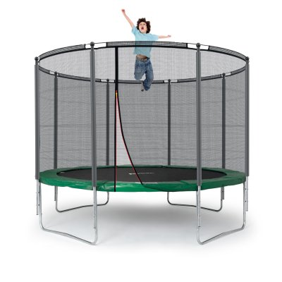 klassik trampolin 305 cm netz mit ring gr n bis 150 kg. Black Bedroom Furniture Sets. Home Design Ideas