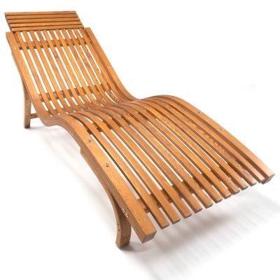 Sonnenliege Cannes Aus Holz, Braun