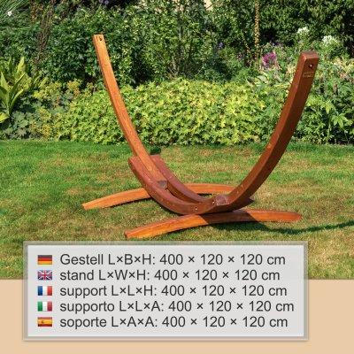 Gestell Madagaskar 400 cm, braun