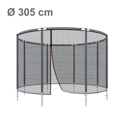Klassik Sicherheitsnetz mit Ring Ø 305, 8 Pfosten (Netz außen)