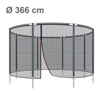 Klassik Sicherheitsnetz mit Ring Ø 366 cm, 8 Pfosten (Netz außen)