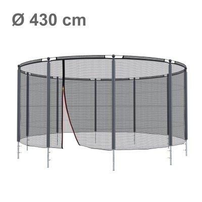 Klassik Sicherheitsnetz mit Ring Ø 430 cm, 10 Pfosten (Netz außen)