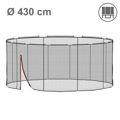 Deluxe Ersatznetz 430 cm für 12 Stangen, ohne Pfosten (Netz außen, Randabdeckung innen)