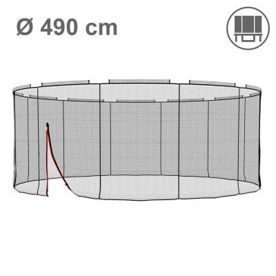 Deluxe Ersatznetz 490 cm für 12 Stangen, ohne Pfosten (Netz außen, Randabdeckung innen)