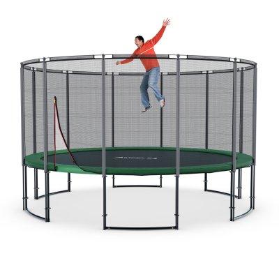 Deluxe Trampolin Ø 430 cm (Netz außen, bis 160 kg)
