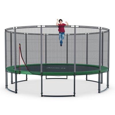 Deluxe Trampolin Ø 490 cm (Netz außen, bis 120 kg)