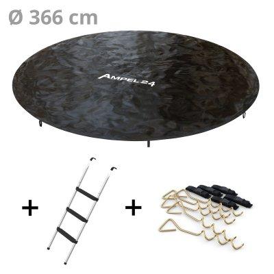 SparSet: Abdeckplane Ø 366 cm mit Leiter und Bodenanker