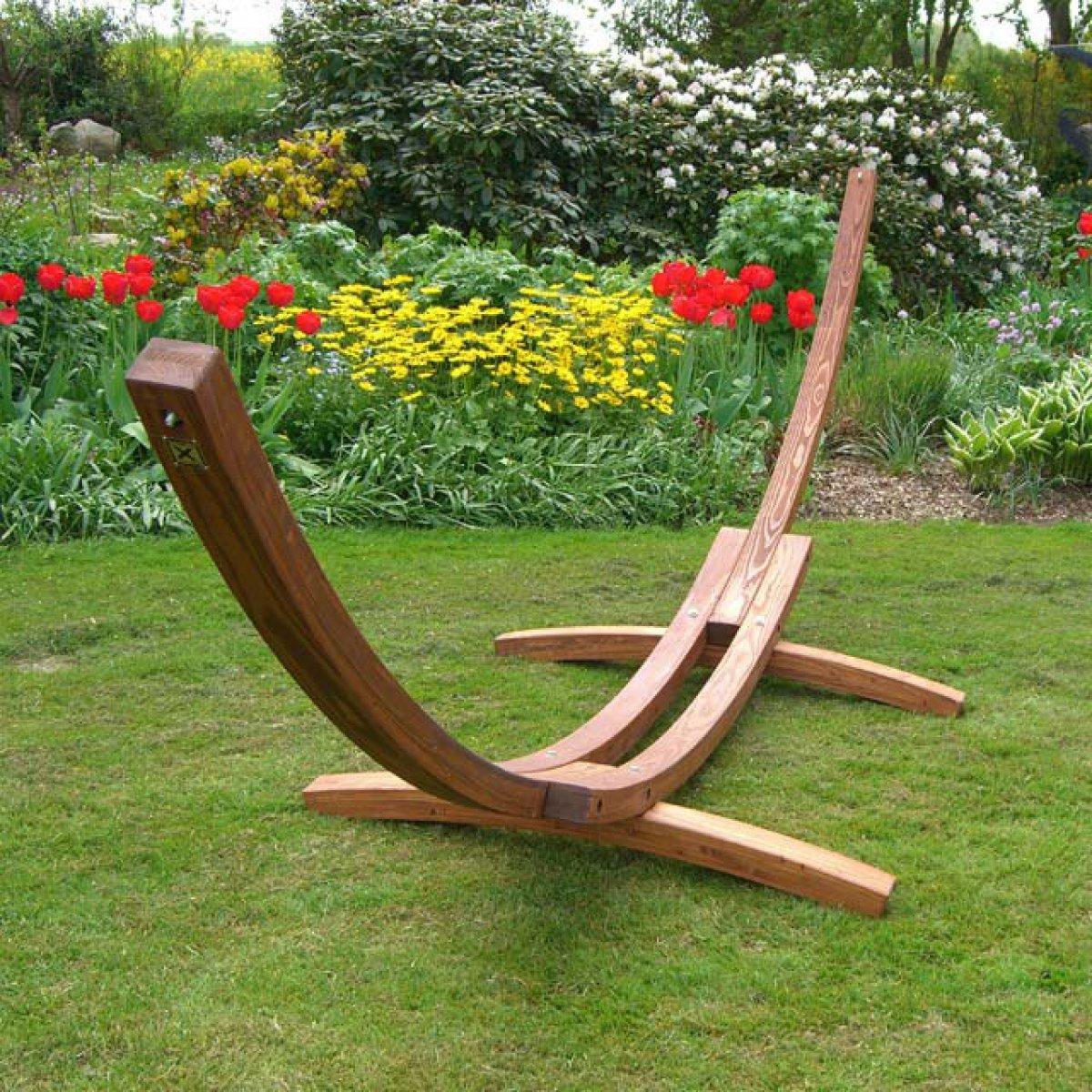 h ngemattengestell madagaskar 400 cm braun ebay. Black Bedroom Furniture Sets. Home Design Ideas