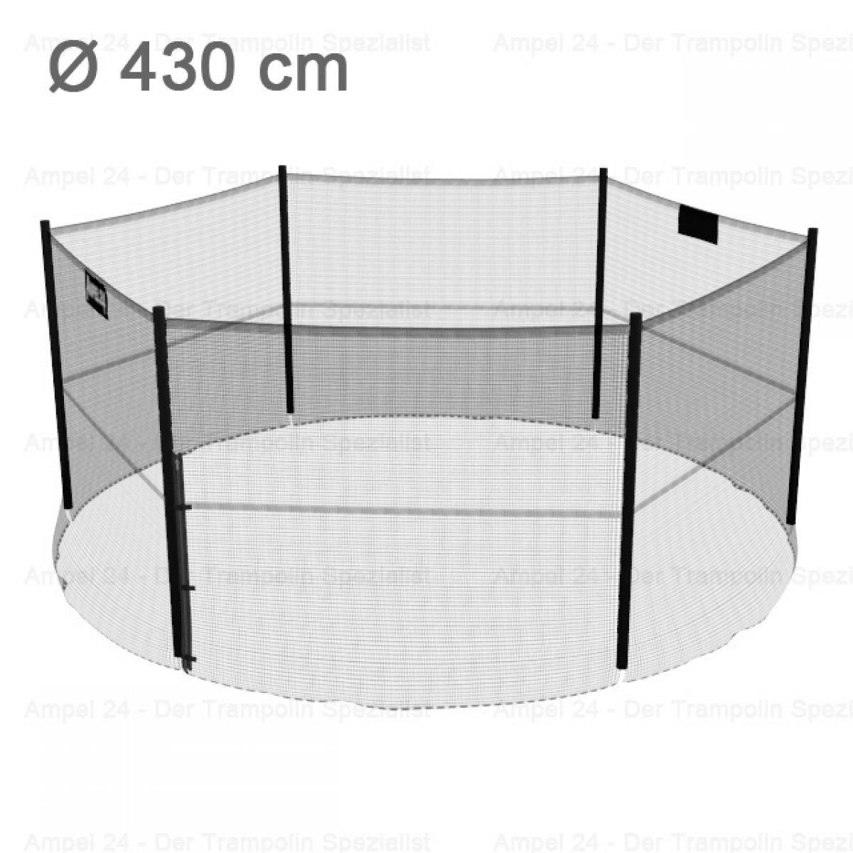 trampolin ersatz sicherheitsnetz 430 cm f r 6 stangen ebay. Black Bedroom Furniture Sets. Home Design Ideas