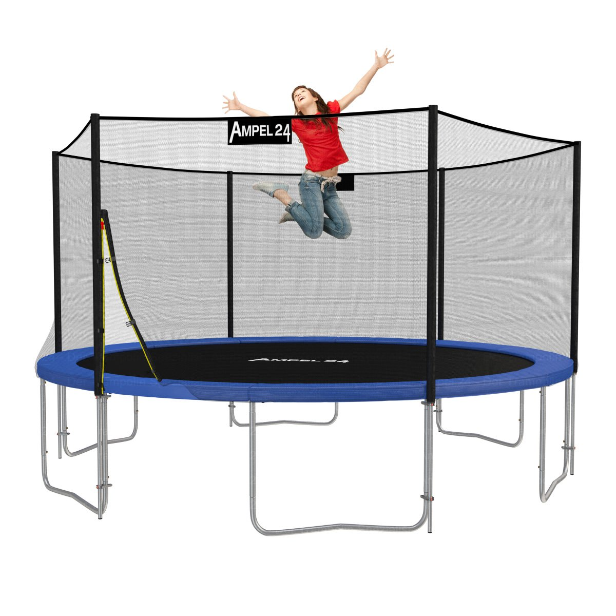 original ampel 24 trampolin 430 cm mit netz neuste version 2013 ebay. Black Bedroom Furniture Sets. Home Design Ideas