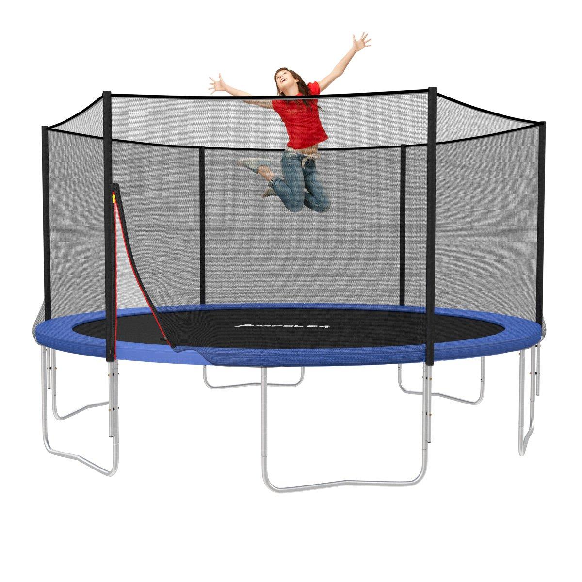 original ampel 24 trampolin 430 cm mit sicherheitsnetz version 2014 ebay. Black Bedroom Furniture Sets. Home Design Ideas