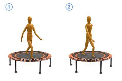 Minitrampolin Trampolin Fitness Kindertrampolin Gartentrampolin Gymnastik Übung